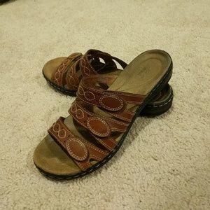 Clarks slip on sandal
